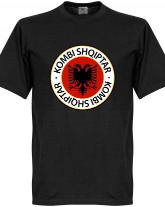 Albanien T-shirt Crest Svart XS