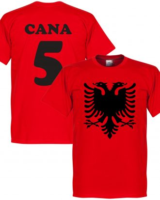 Albanien T-shirt Eagle Cana 5 Röd XS