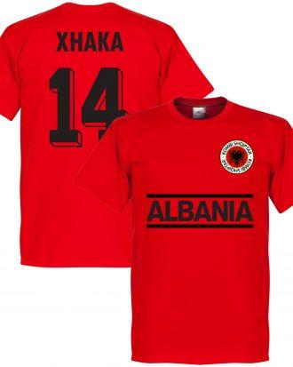 Albanien T-shirt Xhaka 14 Team Röd XS