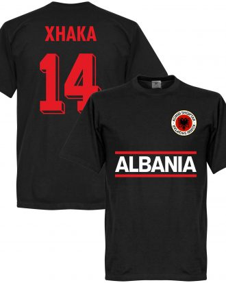 Albanien T-shirt Xhaka 14 Team Svart XS