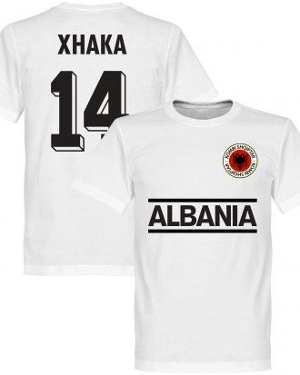 Albanien T-shirt Xhaka 14 Team Vit XS