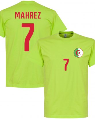 Algeriet T-shirt Crest Mahrez 7 Grön S