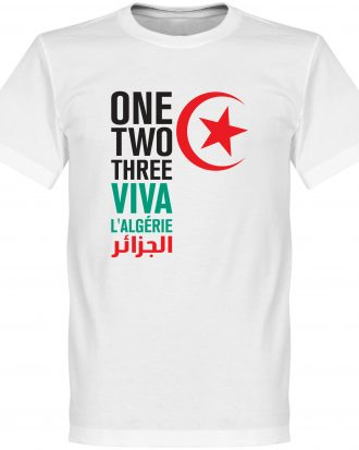 Algeriet T-shirt Viva LAlgerie Vit XS