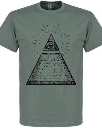 All Seeing Eye T-Shi T-shirt Culture All Seeing Eye Mörkgrå S