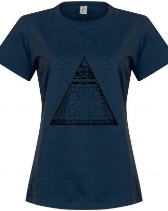 All Seeing Eye Women T-shirt All Seeing Eye Dam Mörkblå S