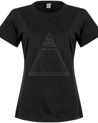 All Seeing Eye Women T-shirt All Seeing Eye Dam Svart S