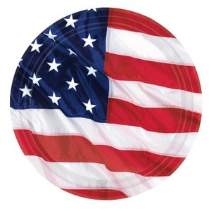 Amerikanska flaggan - papperstallrikar 26