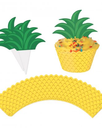 Ananas Cupcake Wrappers - 12-pack