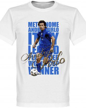 Andrea Pirlo T-shirt Legend Pirlo Legend Vit XS