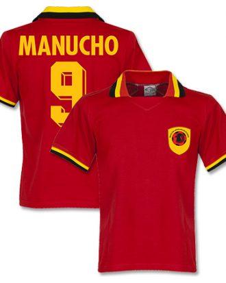Angola Tröja 1970 Retro Shirt  Manucho 9 Röd XL