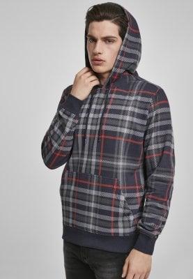 AOP rutig hoodie (L