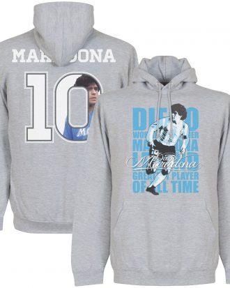 Argentina Huvtröja Maradona No10 Legend Diego Maradona Grå S