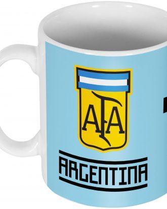Argentina Mugg Messi 10 Team Lionel Messi Vit