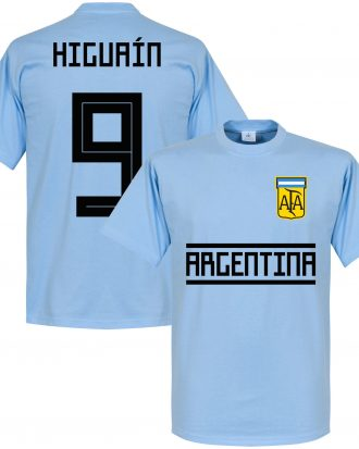 Argentina T-shirt Higuain 9 Team Gonzalo Higuain Ljusblå XS