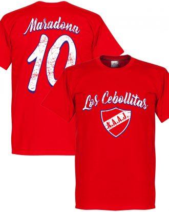 Argentinos Juniors T-shirt Los Cebollitas Maradona 10 Diego Maradona Röd XS