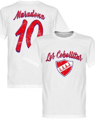 Argentinos Juniors T-shirt Los Cebollitas Maradona 10 Vit XS