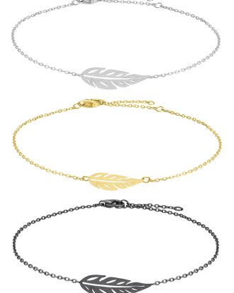 Armband Leaf - Nordahl Jewellery (Oxiderat Silver)