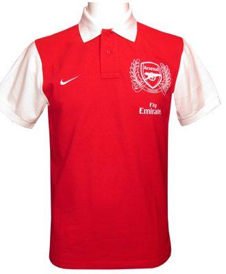 Arsenal Piké Röd/Vit S