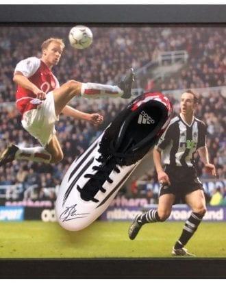 Arsenal Signerad Fotbollssko Dennis Bergkamp