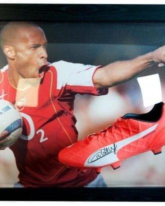 Arsenal Signerad Fotbollssko Thierry Henry