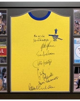 Arsenal Signerad Fotbollströja 1971 Double Winners