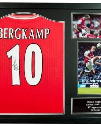 Arsenal Signerad Fotbollströja Dennis Bergkamp