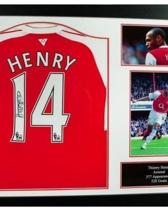Arsenal Signerad Fotbollströja Henry
