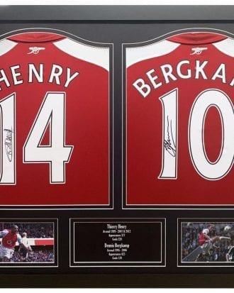 Arsenal Signerad Fotbollströja Henry & Bergkamp