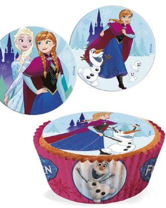 Ätbara Sockerdekorationer Frozen