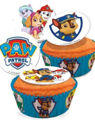 Ätbara Sockerdekorationer Paw Patrol