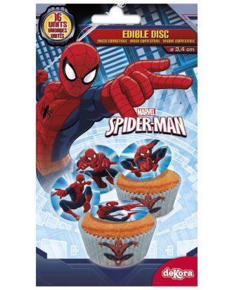 Ätbara Sockerdekorationer Spider-Man