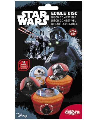 Ätbara Sockerdekorationer Star Wars