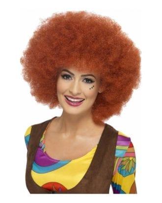 60-tals Rödbrun Afroperuk - One size