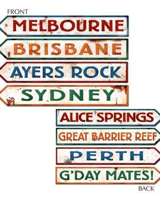 Australienska Vägskyltar Dekoration