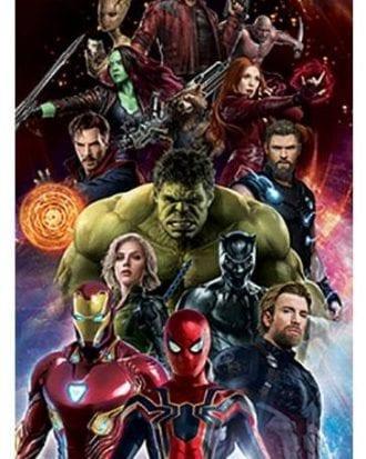 Avengers Dörrposter Infinity War