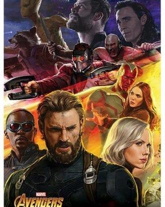 Avengers Infinity War Poster Captain America