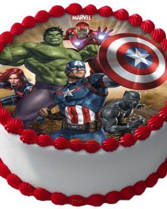 Avengers Tårtbild Sockerpasta B