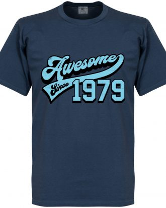 Awesome Since 1979 T T-shirt Culture Awesome Since 1979 Blå S