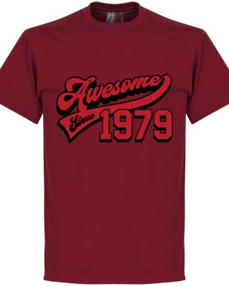 Awesome Since 1979 T T-shirt Culture Awesome Since 1979 Röd S