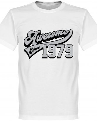 Awesome Since 1979 T T-shirt Culture Awesome Since 1979 Vit XS