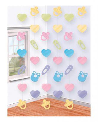 Baby Shower Hängande Dekoration - 6-pack