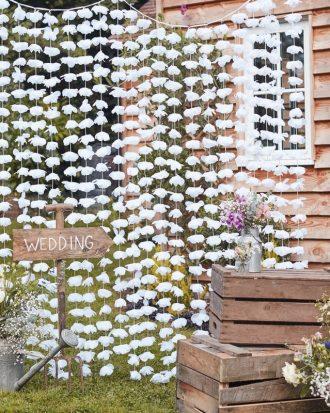 Backdrop Bröllop Blommor