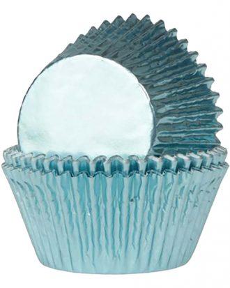 Muffinsformar Folie Ljusblå - 24-pack
