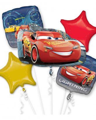 Ballongbukett Bilar/Cars 3 - 5-pack