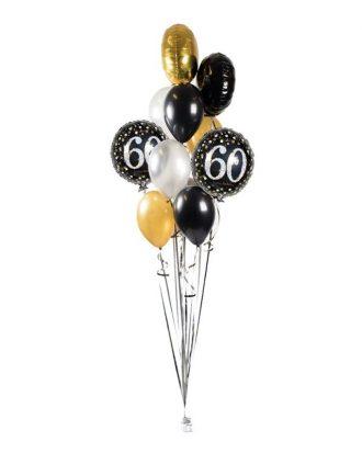 Ballongbukett Happy Birthday Sparkling 60