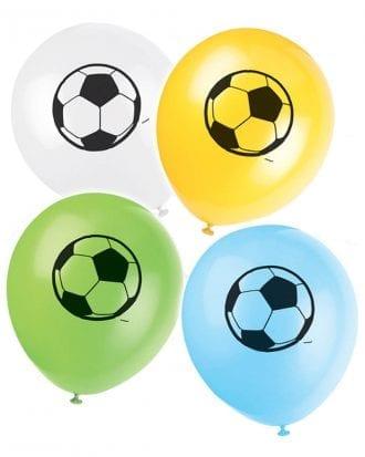 Ballonger Fotboll Flerfärgade - 8-pack