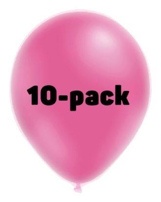 Ballonger Neonrosa - 10-pack