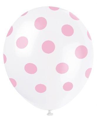 Ballonger Rosa Prickiga - 6-pack