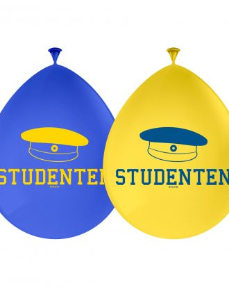 Ballonger Studenten Blå/Gul - 8-pack