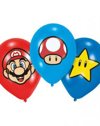 Ballonger Super Mario - 6-pack